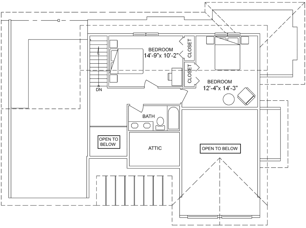 3.2.7-VERMONT FLOOR PLAN (UPPER FLOOR)