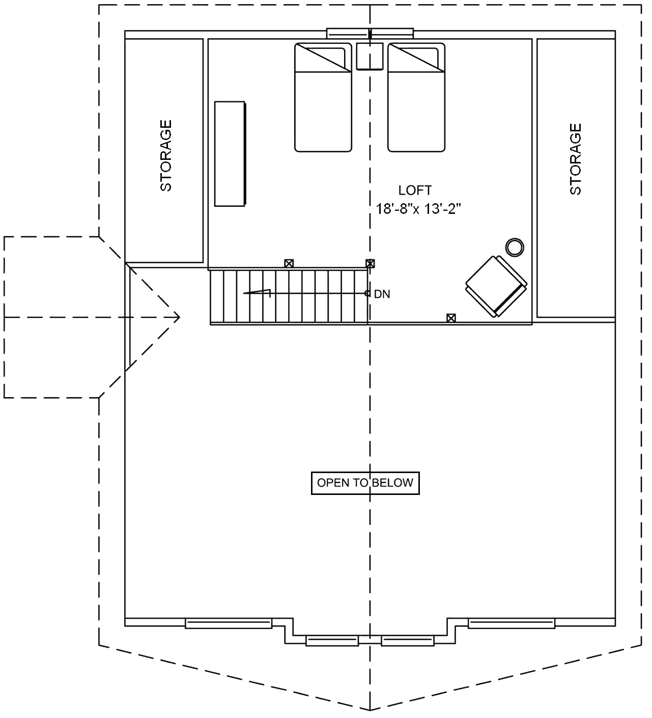 <strong>Loft: 293 square feet (27.22 m²)</strong>