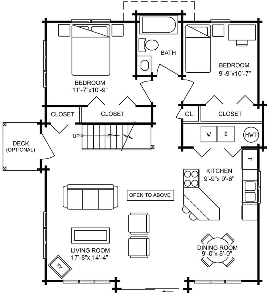 3.2.4-ALEUTIAN FLOOR PLAN (MAIN FLOOR)