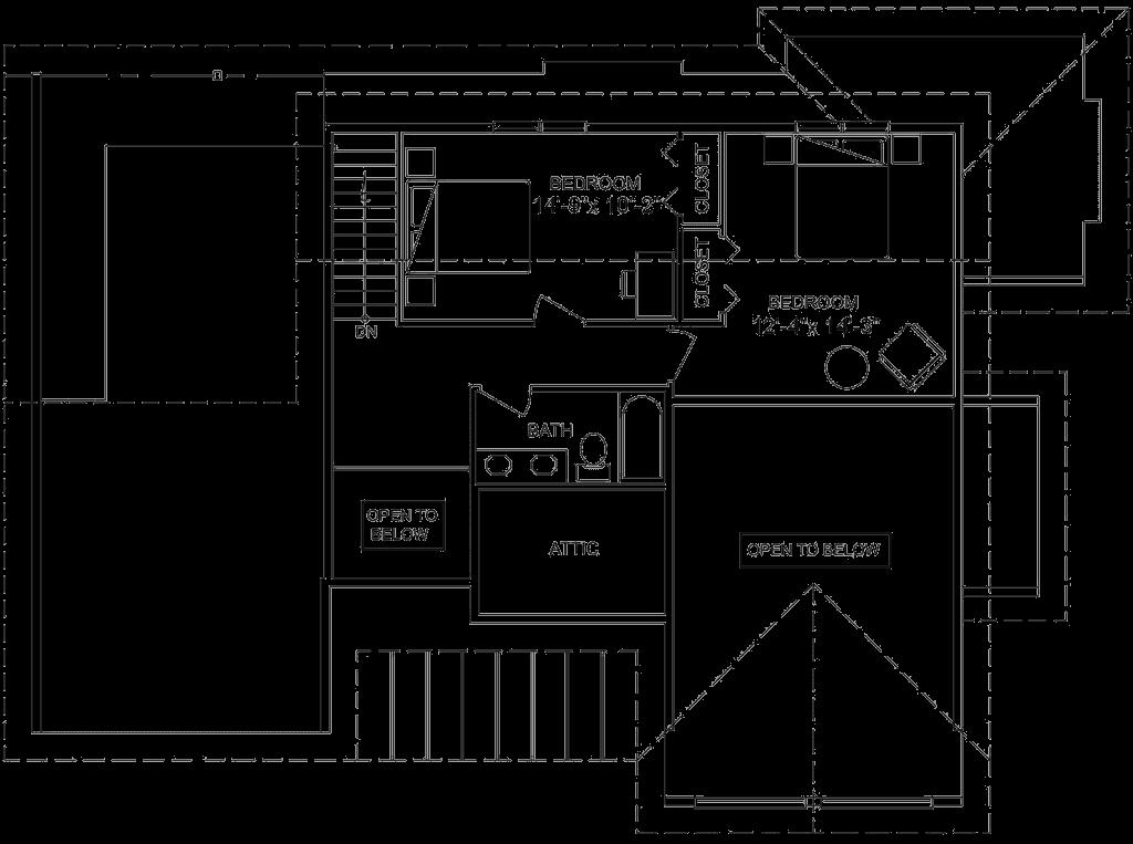 3.2.7-VERMONT FLOOR PLAN (UPPER FLOOR)