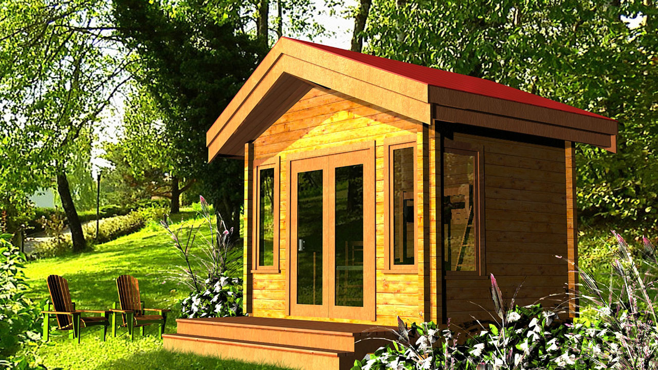 ALGONQUIN accessory building - Small Western Red Cedar log cottage.