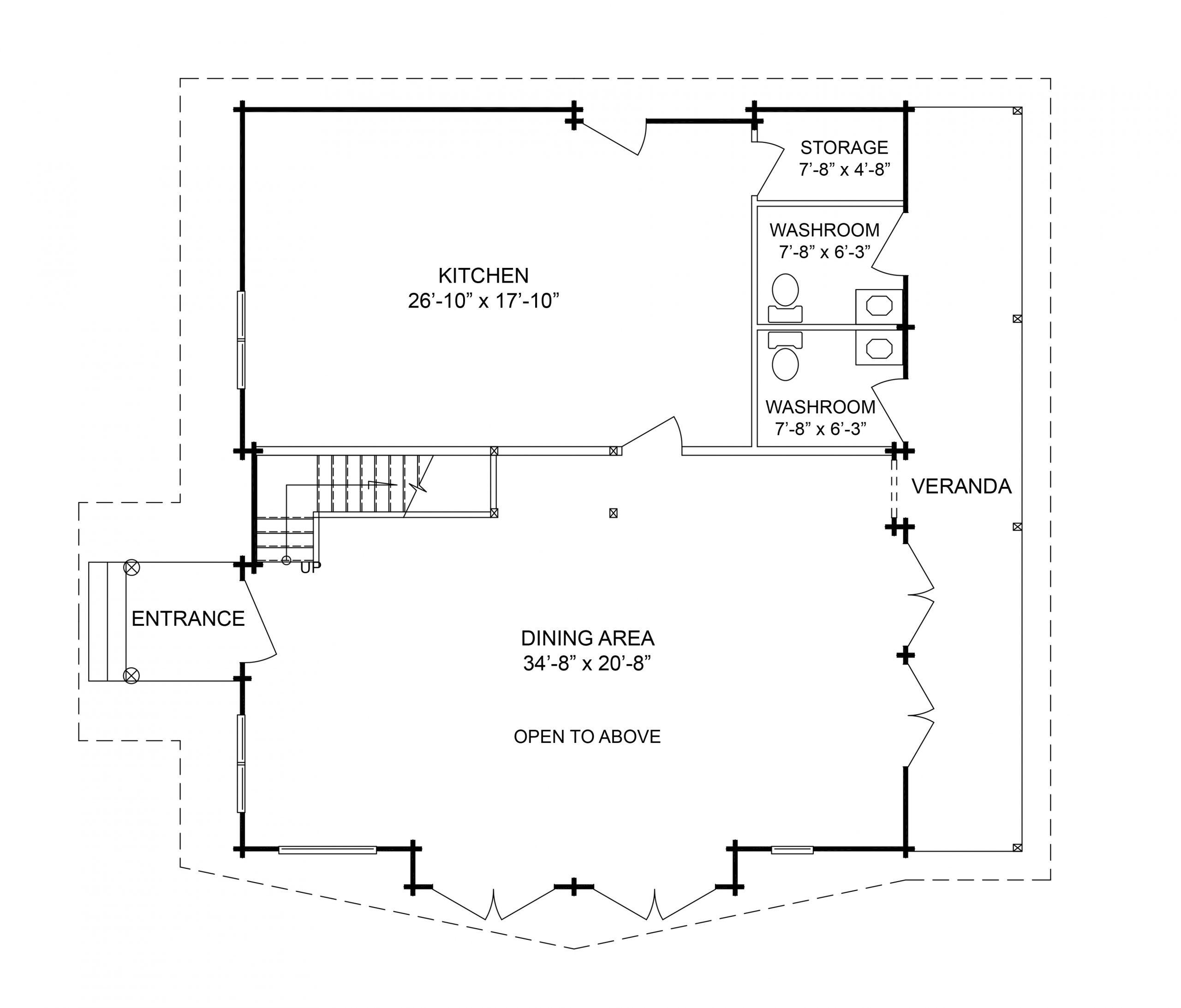 Main Floor: 1,410 square feet / 130.95 m²