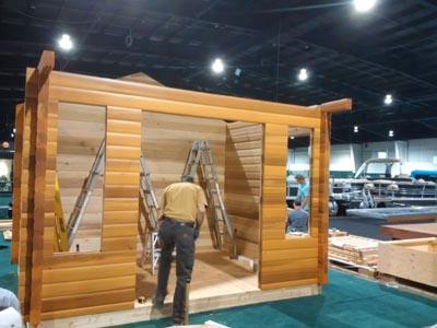 western red cedar bunkie kits, build your own bunkie, algonquin bunkie pan-abode